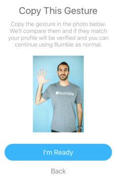 copy this gesture bumble verification