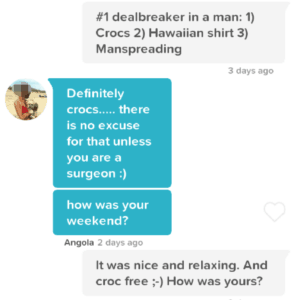 good Tinder conversation starter