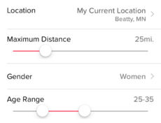 Change your age and distance with Tinder Plus