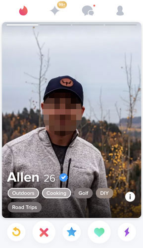 Tinder Interests example
