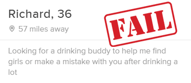bad tinder bio example