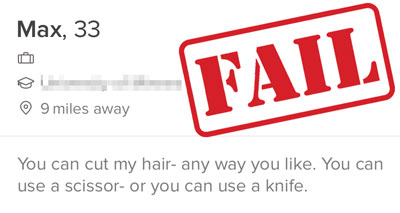 creepy Tinder profile