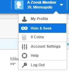 Hide and Seek on Zoosk