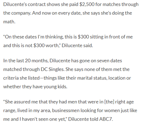 dc singles complaints