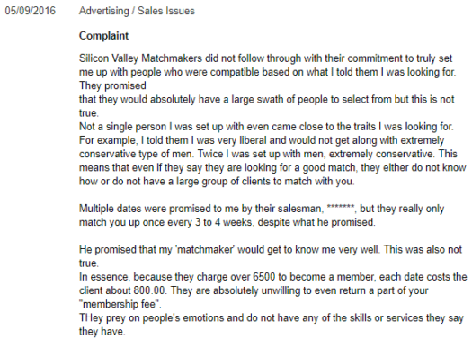 match customer service complaints
