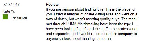 LUMA luxury matchmaking BBB reviews