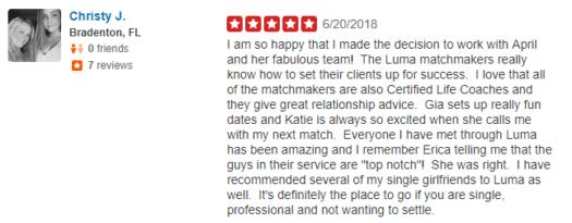 LUMA matchmaking reviews