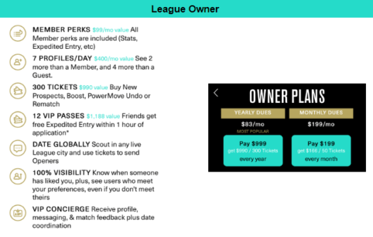 League owner cost