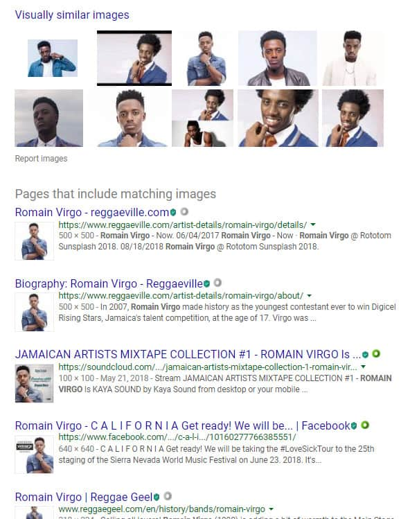 search results
