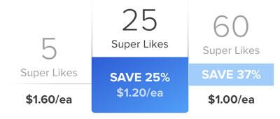 Tinder SuperLike Cost