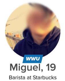 Tinder U profile