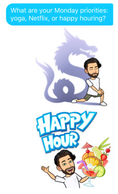 funny bitmoji to send on Tinder