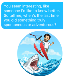 great bitmoji for Tinder