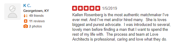 The Love Architects Yelp review