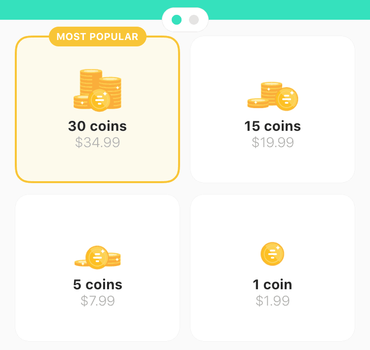 bumble coin cost