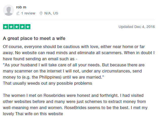 rosebrides review trustpilot