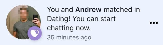 Facebook Dating messaging