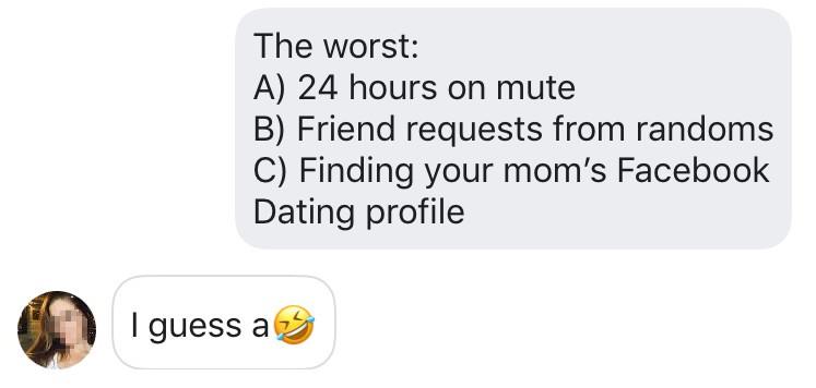 Facebook dating opener example