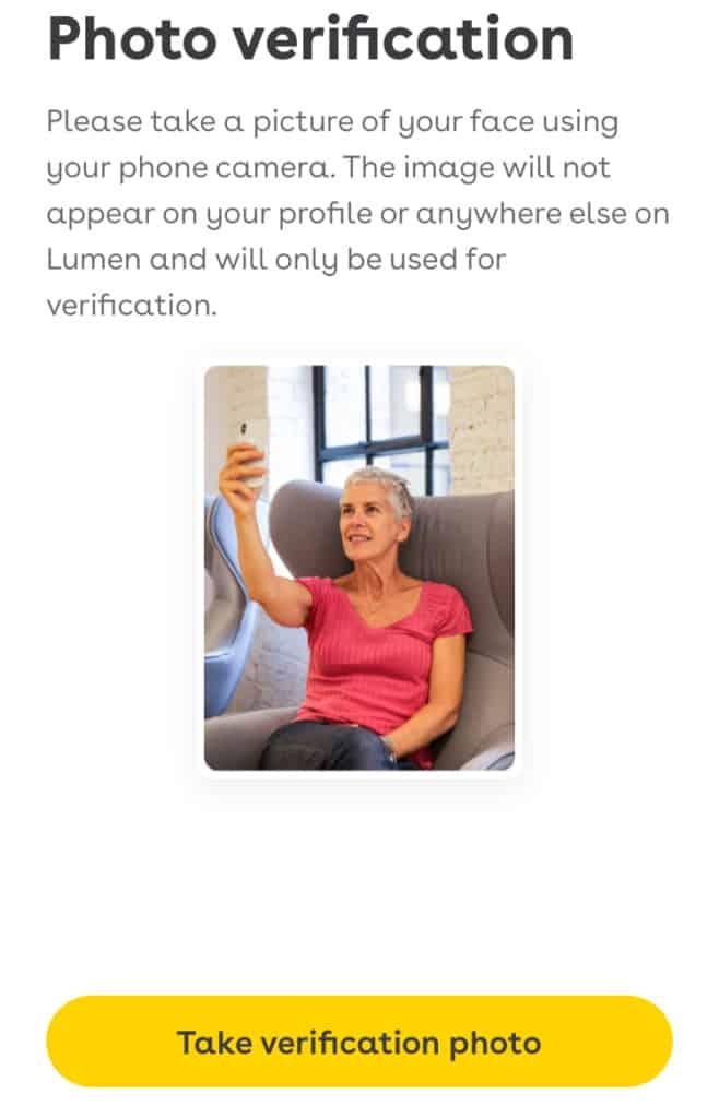 Lumen photo verification