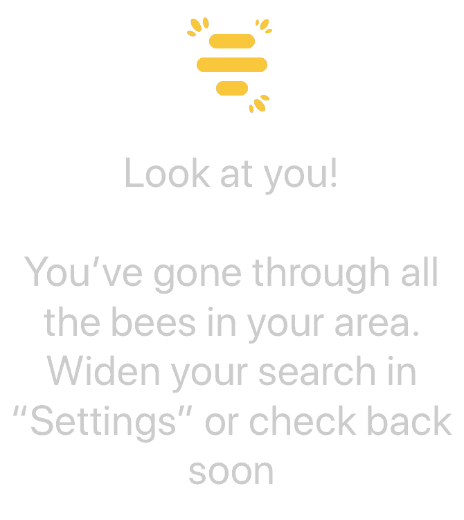 bumble out of people