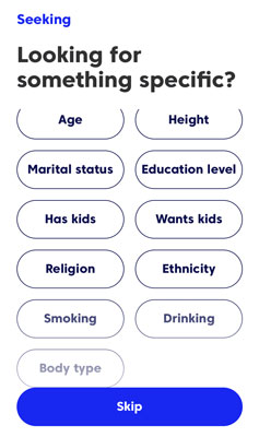 Match seeking choices
