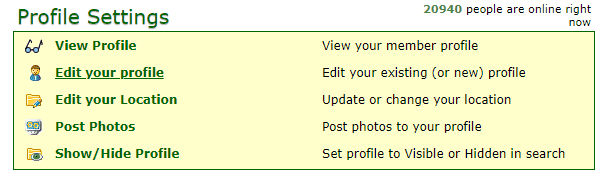 Farmers Only profile settings