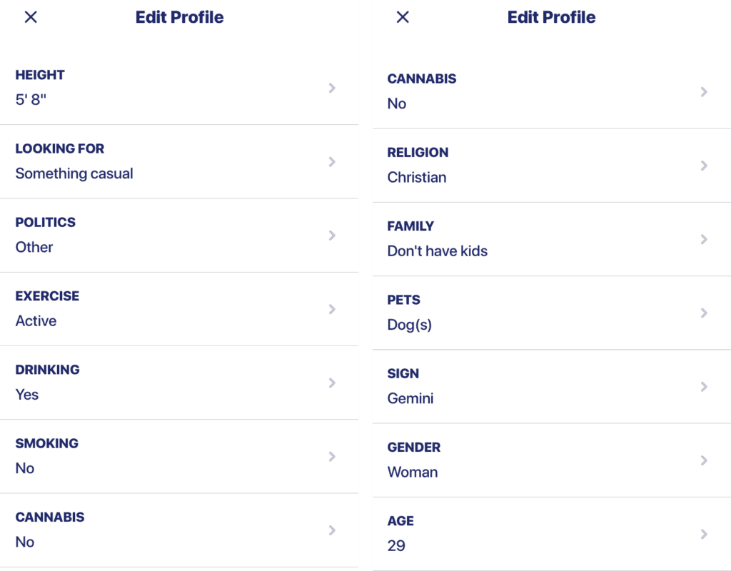 Ship Dating App profile