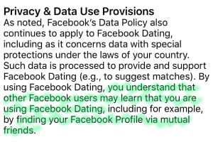 Facebook Dating Privacy Policy