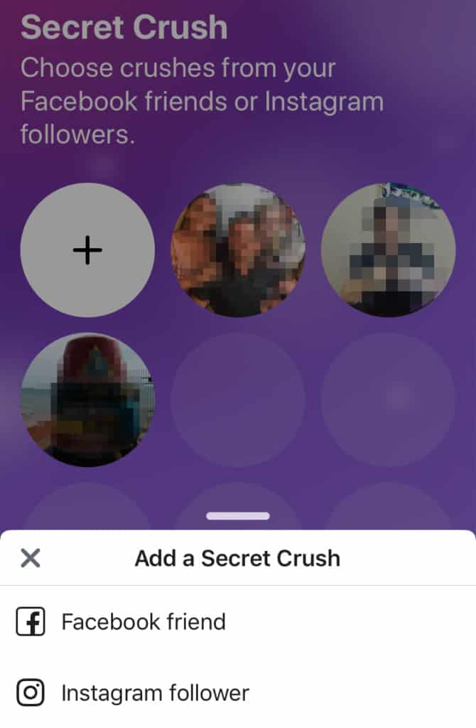 Facebook Dating Secret Crush feature