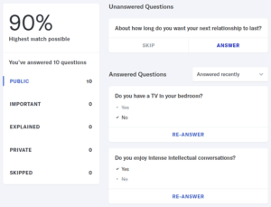 OkCupid questions