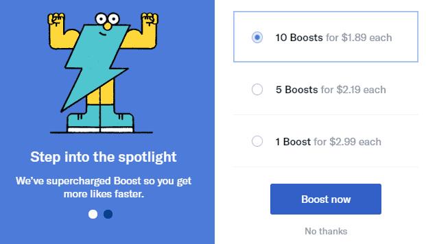 OkCupid boost costs