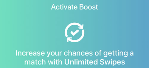 Bumble Boost Unlimited Swiping