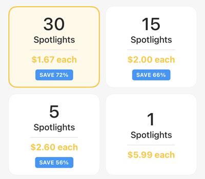 Bumble Spotlight Cost