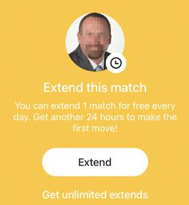 Extend a Bumble match