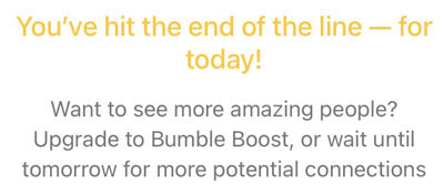 Bumble Daily Likes Limit