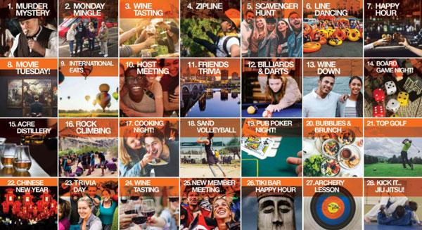 Events & Adventures Calendar Example
