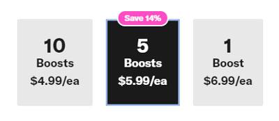 OkCupid Boost prices