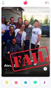 Tinder group shot fail