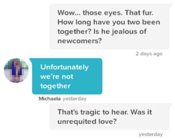 Tinder conversation starter about her dog