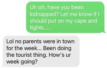 Conversation starter text