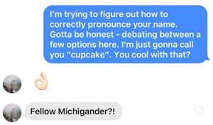 First name Tinder opener