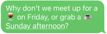 meet for coffee text
