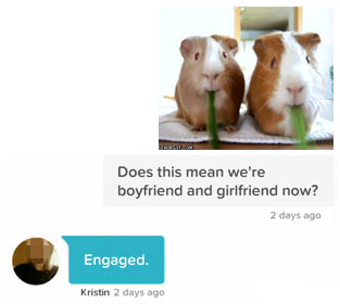 cute tinder opening line with gif