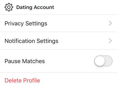 Delete Facebook Dating profile