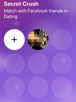 Facebook Dating secret crush list