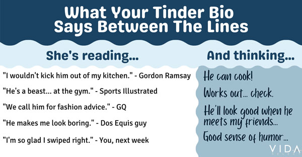 Tinder profile tip: reading between the lines