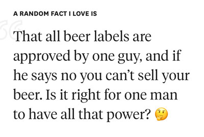 beer labels example