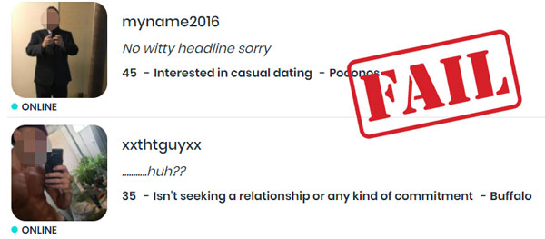 examples of headlines that will turn her off on POF