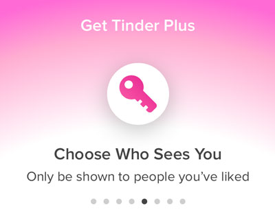 Hide Tinder profile and choose who sees you