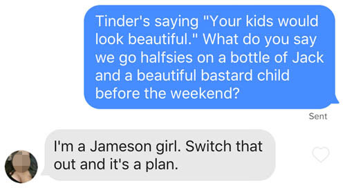 funny Tinder line about future kids